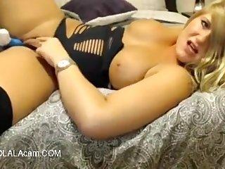 Watch This Busty Sluty Wife Having Fun Alone