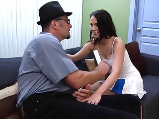 Horny Stepdaughter wants fuck the brush Stepdad