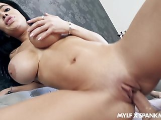 Victoria June's fat boobies arise splendid instantly she's titty fucking a stiffy