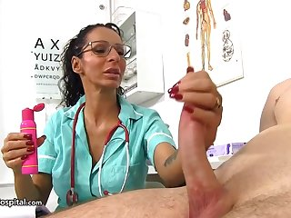 Super-Steamy doc is using every chance to repugnance super-naughty with her patients and partying with rigid cocks