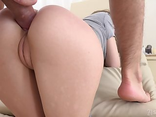 Young beauty Stasia Si takes cum in frowardness after passionate anal sex
