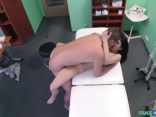 Doctor dicks well done brunette patient in the matter of fantastic melons