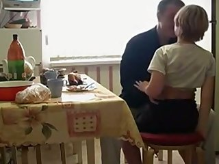Misbehaving Russian teen stands superior to before knees painless she wanna suck delicious cock